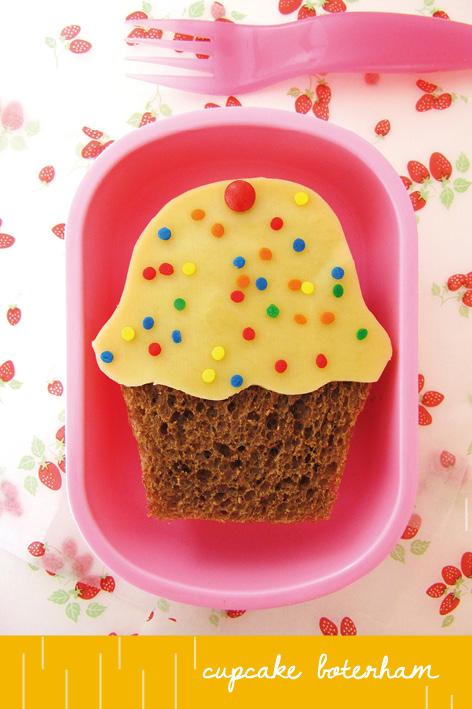 cupcake gezond, bento boterham, dutch bento