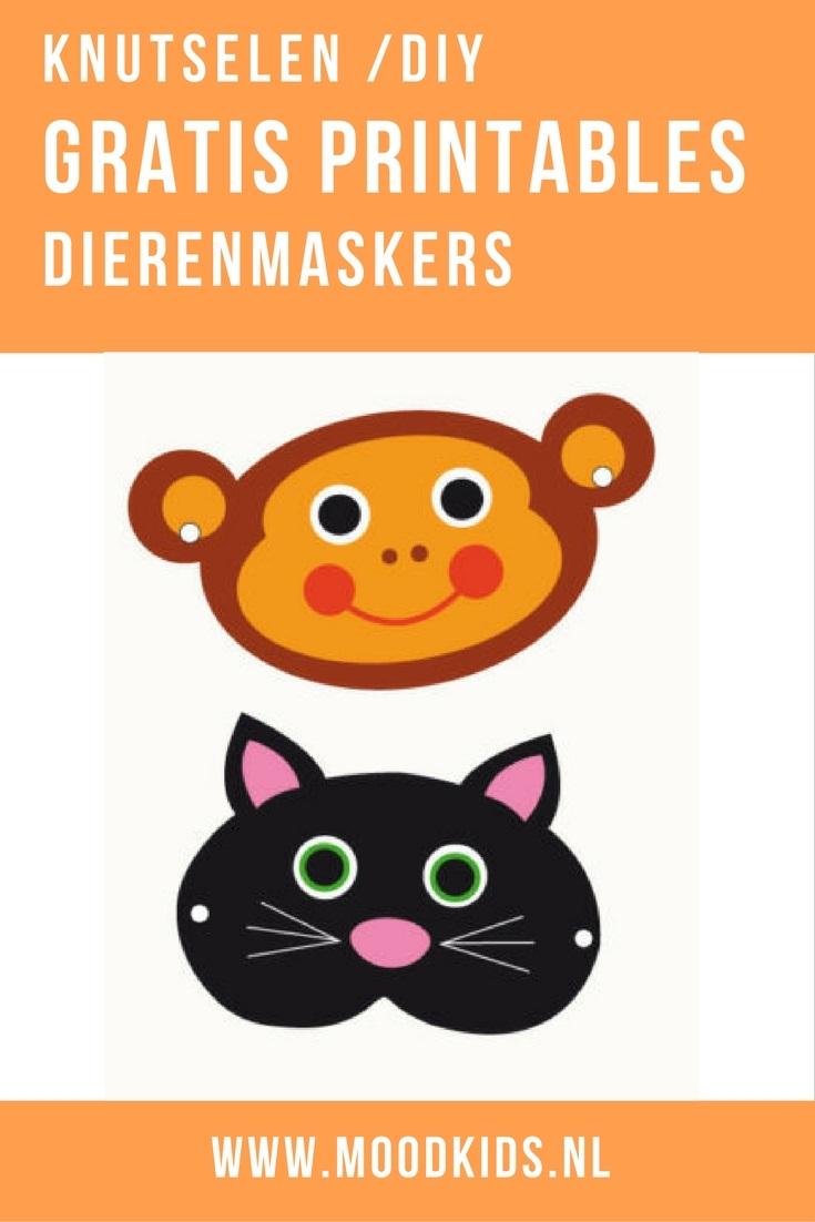 Met deze gratis download maak je in no-time zelf leuke dierenmaskers. Downloaden, printen, knippen, elastiekjes. Miauw, klaar! Leuk voor dierendag.