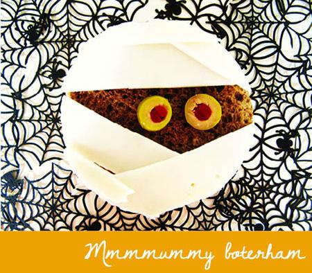 halloween lunch mummieboterham
