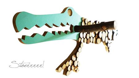 stoerrr krokodil kapstok design for kids