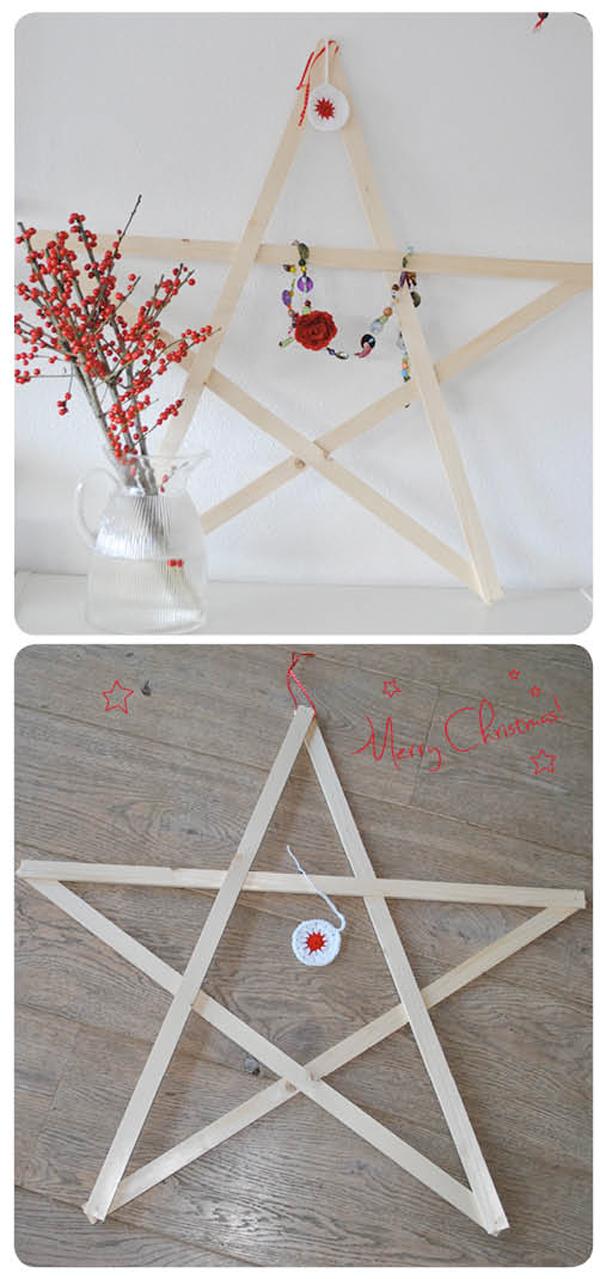 houten kerstster DIY