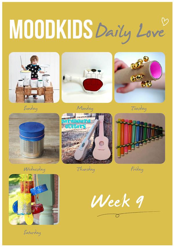 366dailyLoves, 365 dagen project, muziekinstrumenten maken met kinderen