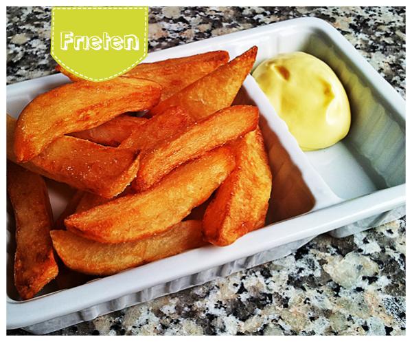 zelf friet en mayo maken met kinderen