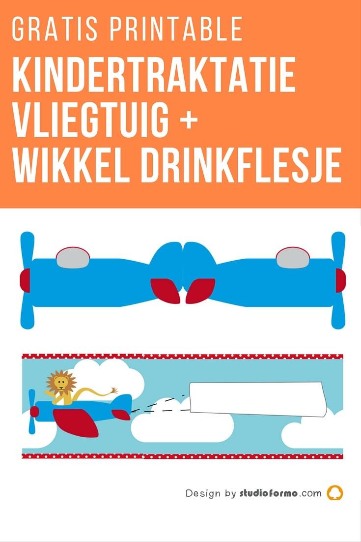 Met dit vliegtuig wordt elke traktatie een feest. De omslag voor het flesje drinken maakt het extra leuk. Download, print en maak een geweldige traktatie. De printable en de werkomschrijving vind je op www.moodkids.nl