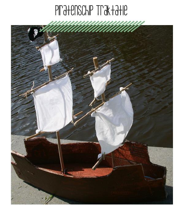 piratenschip traktatie maken
