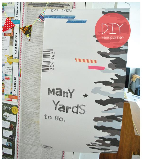 weekplanner zelf maken, weekplanner DIY