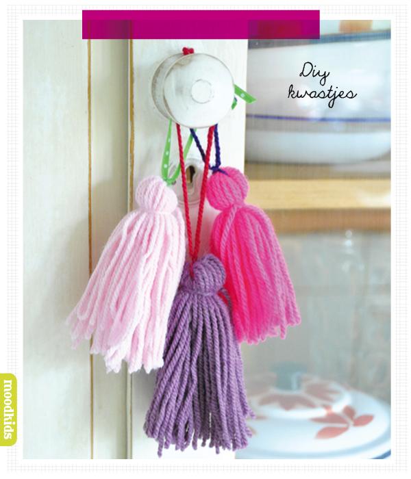 zelf tassels maken, DIY kwastjes van touw of wol