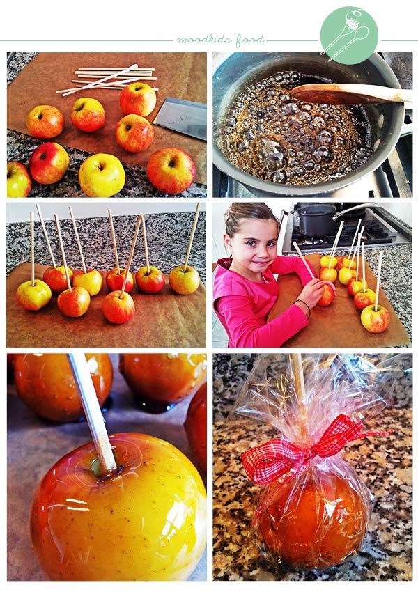recept geglazuurde appels, caramel appels maken