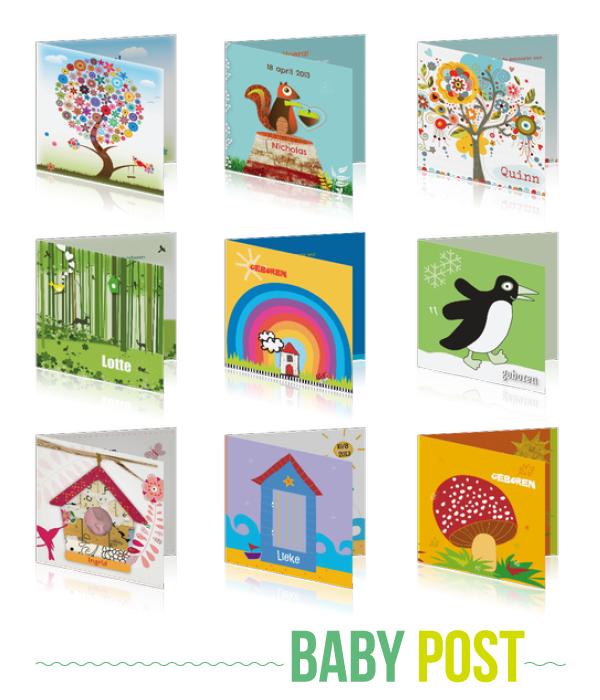 baby-post geboortekaartjes per seizoen