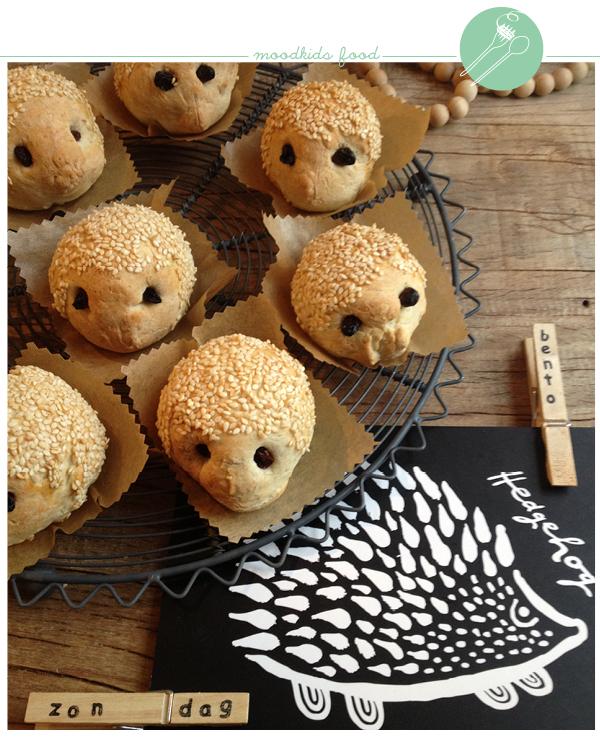 egelbroodjes maken, recept minibroodjes voor kinderen