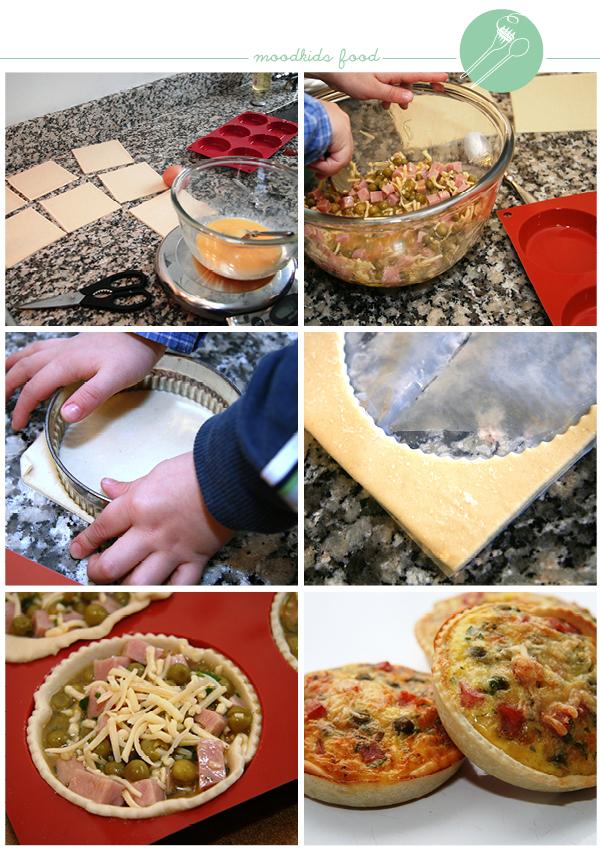 zelf mini quiches maken #recept #kinderkeuken