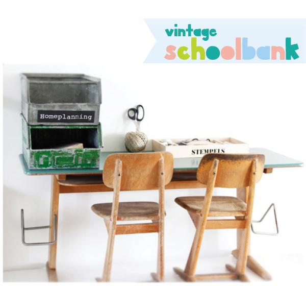 vintage oud schoolbureautje online kopen