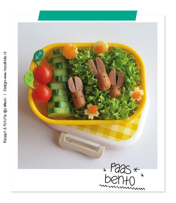 bento easter #bento tutorial how to make a rabbit wiener