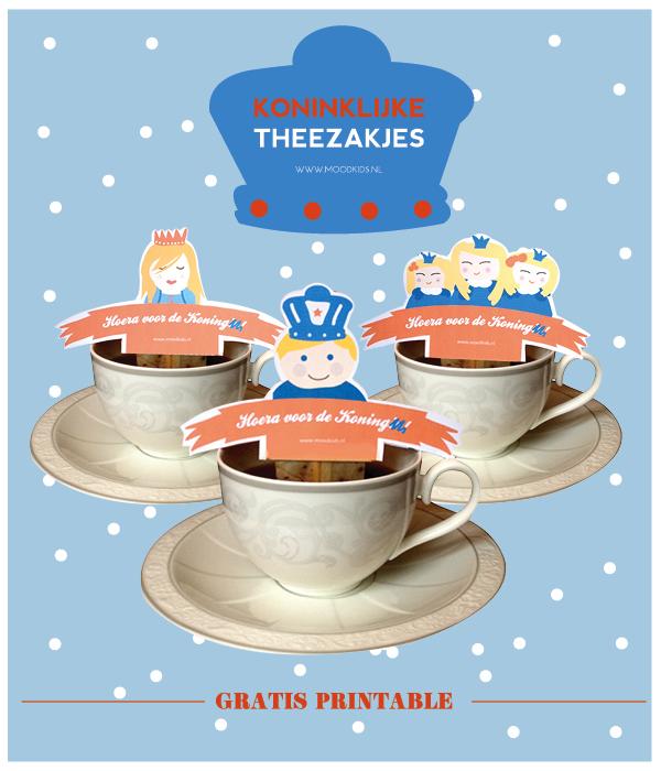 koninklijke theezakjes www.moodkids.nl #diy, royal teabags