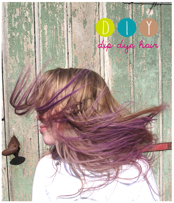 dip dye hair a fun #diy for #kids