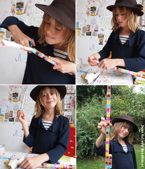diy pijltjesschieter, zo maak je zelf een blaasbalk meer op www.moodkids.nl, pijltjesschieter maken