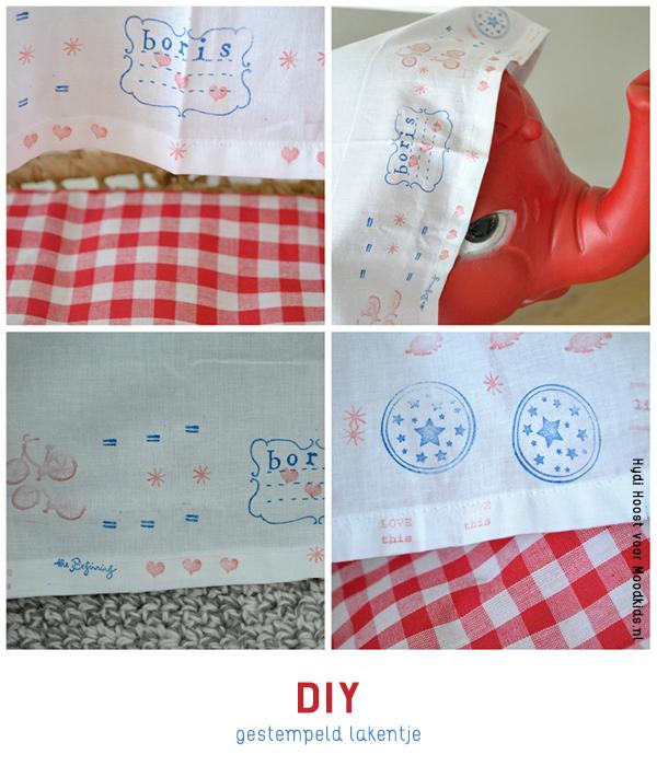 zelf een laken of stof bestempelen of verven #DIY