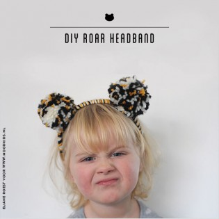 Roarrrrr…. DIY tijger haarband met pompoms
