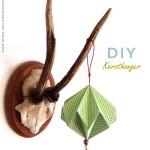 Kersthangers vouwen: origami kerstballen voor in de boom
