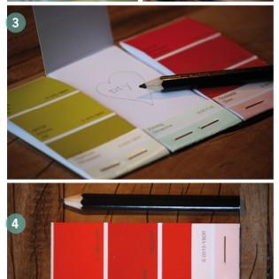 DIY – Schrijfblokje van kleurstalen