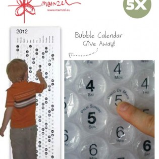 Give away Bubble calender