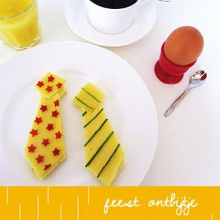Vaderdag ontbijt stropdas boterham