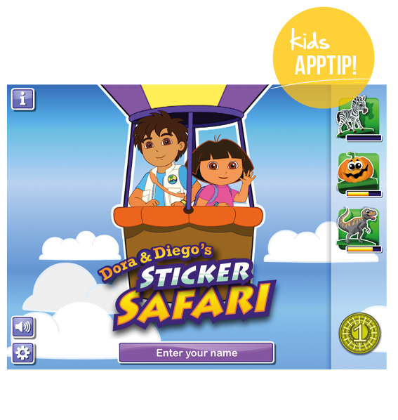 Appreview Dora en Diego Sticker Safari : MoodKids
