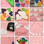 Maak zelf een Valentijnsslinger met hartjes van vilt
