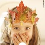 Herfstkroon maken van bladeren