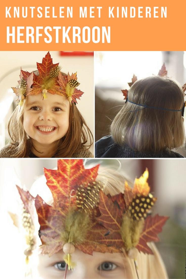 Leuk om te knutselen met de kinderen. Maak van gedroogde bladeren die je gevonden hebt in het bos leuke herfst kroontjes. Lees de stap voor stap beschrijving voor de herfstkroon op de blog.