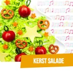 BENTO Salade met kerstballen