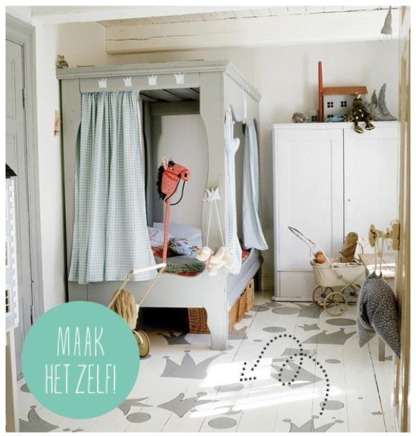 Babykamer houten vloer for - Zin babykamer ...