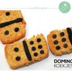 Domino (koekjes) leuk om te spelen en lekker om te eten