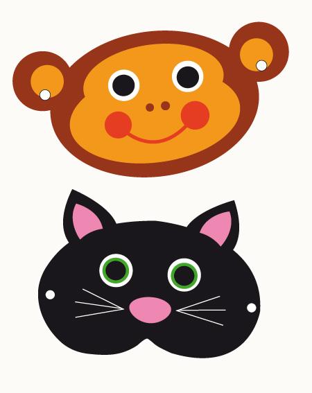 Dierenmaskers maken met deze gratis printables : MoodKids