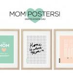 3 gratis Mom Posters met quote
