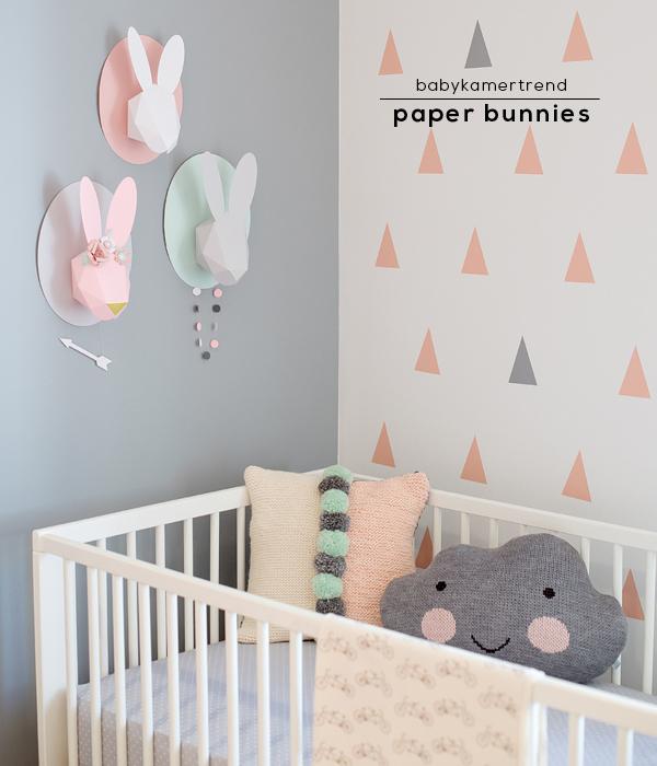 kinderkamer - paper bunnies | moodkids, Deco ideeën