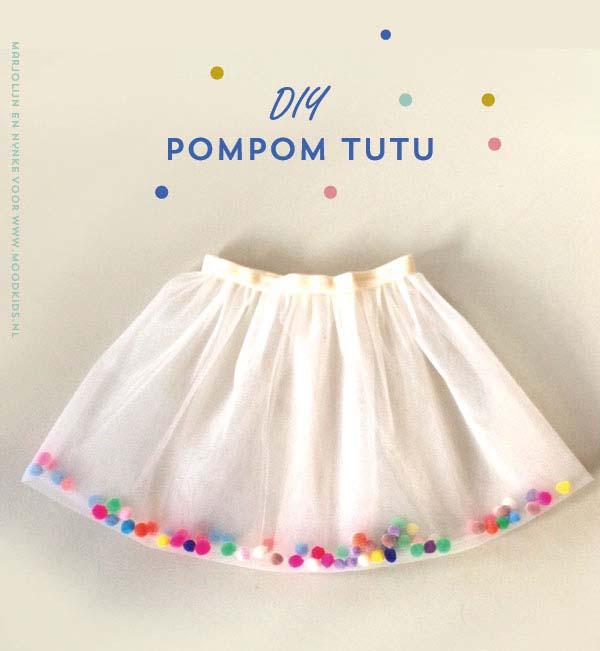 pompom tutu maken rok van tule