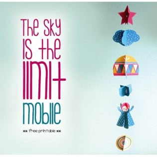 Gratis Printable – The sky is the limit Mobile