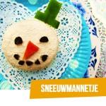 BENTO Sneeuwman kaasbroodjes