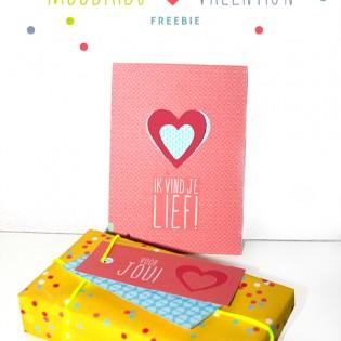 Gratis download Valentijnsdag met kaart, label en inpakpapier