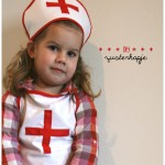 Zuster kostuum: hoofdkapje en mondkapje