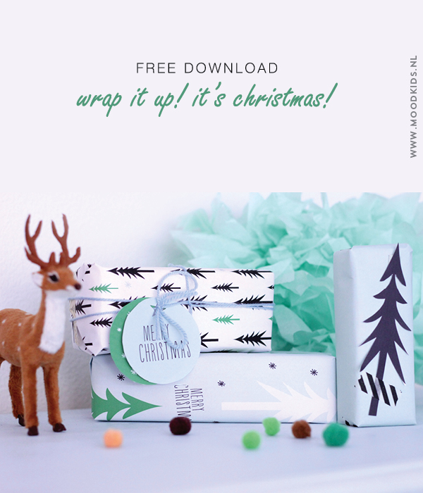 kerst, kadopapier, gratis download, christmas, wrapping paper, download, kerstboom, grafisch, labels, printable