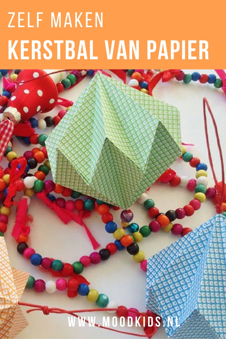 Kersthangers Vouwen Origami Kerstballen Voor In De Boom Moodkids