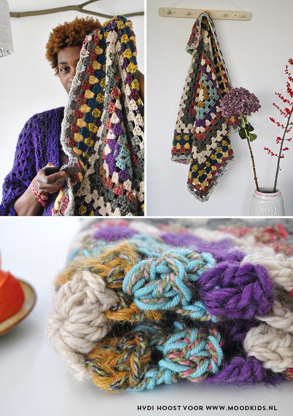patroon granny babydeken, haken, crochet, deken, doek, babykamer, diy