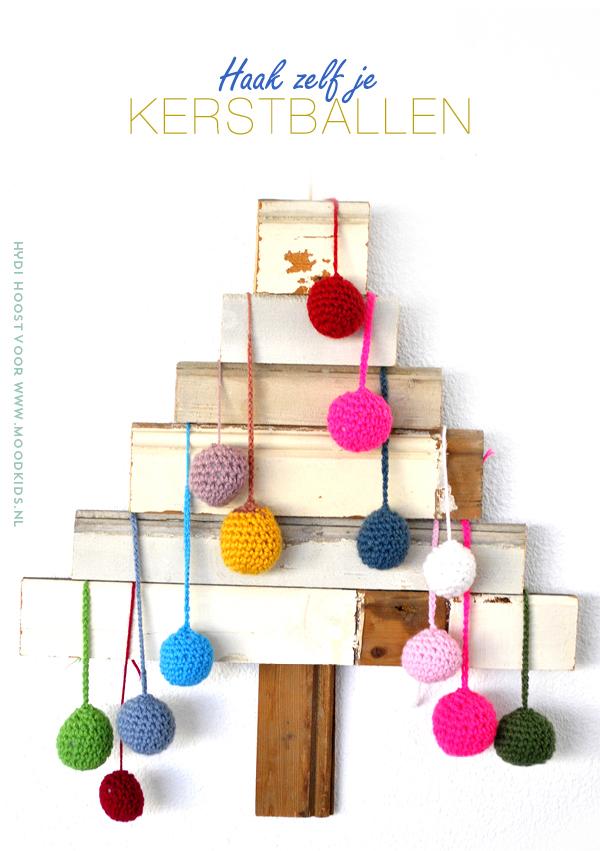 kerstballen haken patroon, crochet, gehaakte kerstballen, kerstversiering, ballen haken