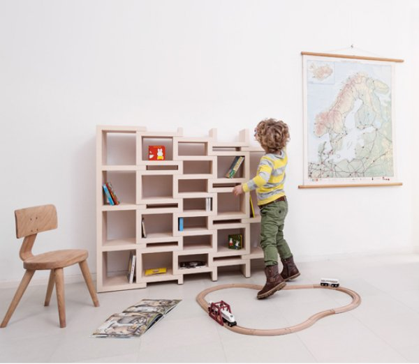 rek junior dutch design meubels kinderkamer boekenkast