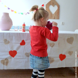 Kleed stempelen voor Valentijn