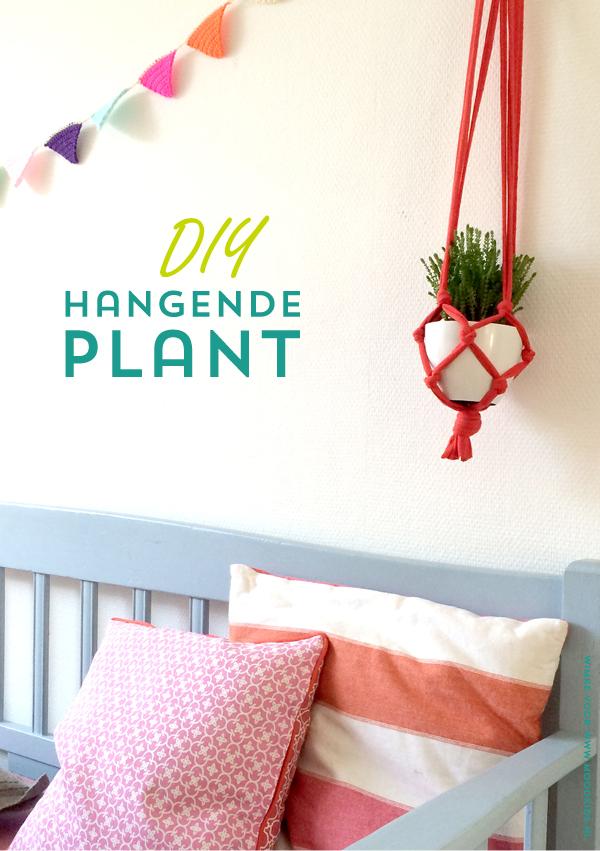 plantenhanger maken, hangende plant maken, diy hangende plantenpot, maak zelf een hangende plant