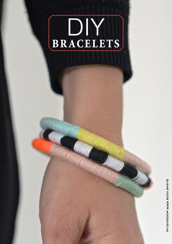 Diy Bracelet Ideas Diy Armband Van Restjes Katoen Gordijnring
