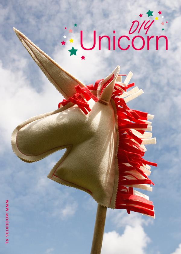 DIY unicorn , zo maak je zelf een eenhoorn stokpaard